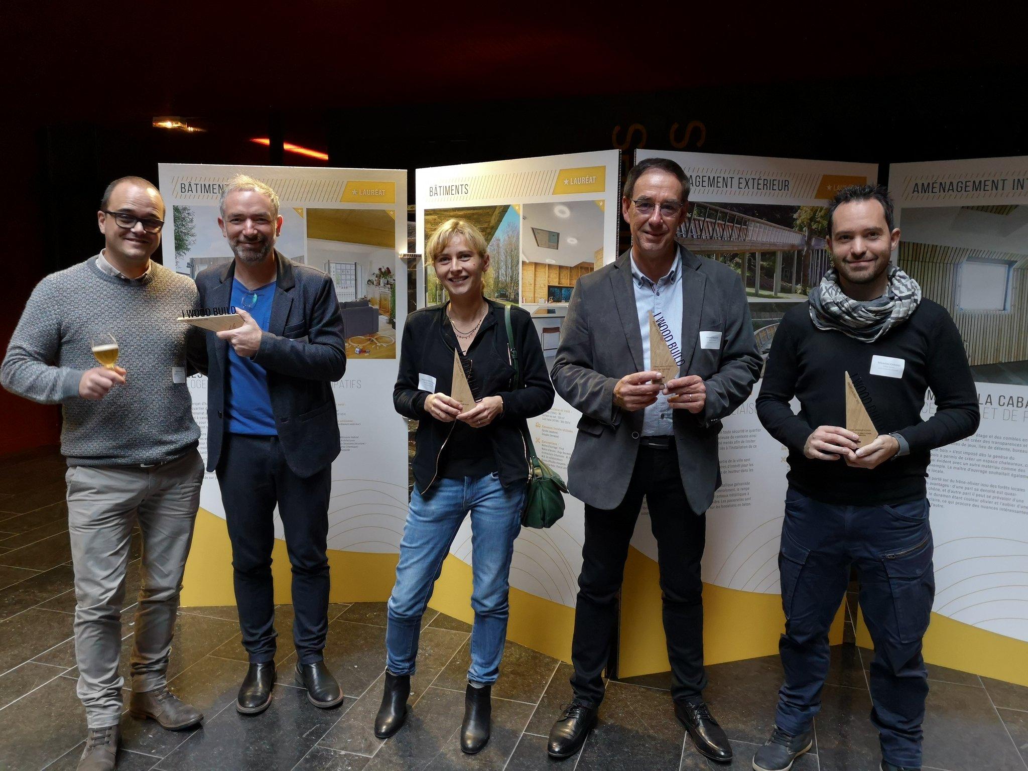 Retour sur la remise des prix « I Wood Build » le 7 novembre 2019 à Lille